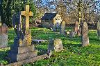 Sun and Shadow in Bugbrooke Cemetery