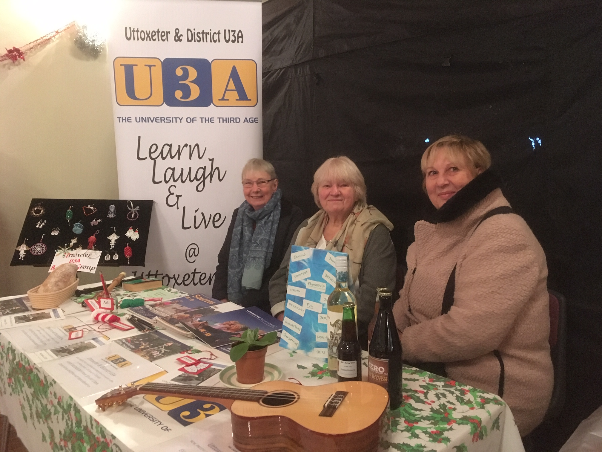 U3A stall on Cracker Night 2018