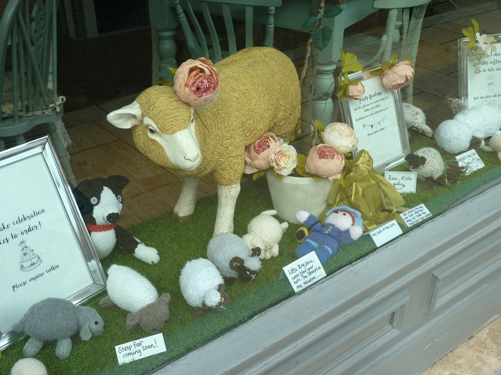 Sheepfair shop window July 2019