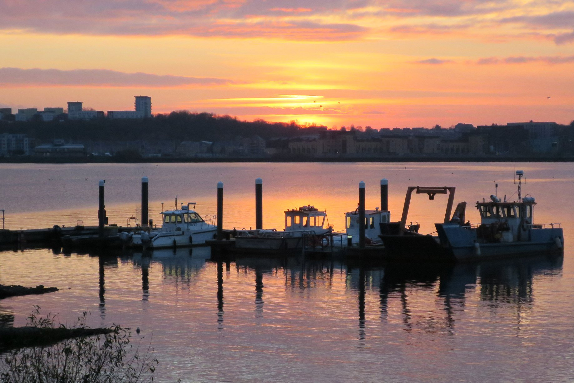 Cardiff Bay and a fine sunset