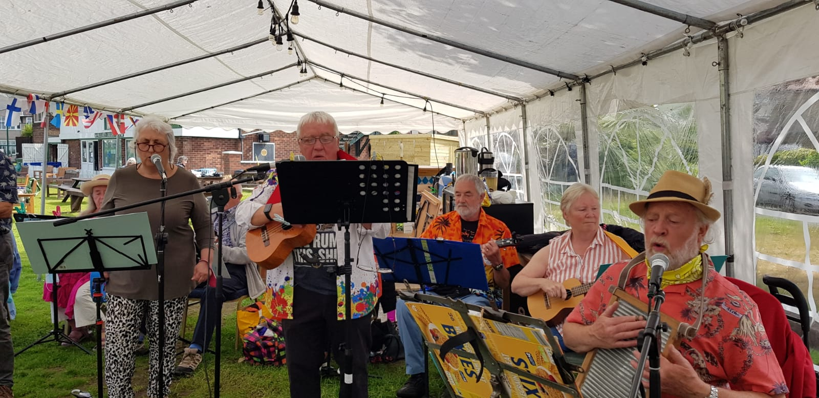 Our Ukulele Group at the Garden Party