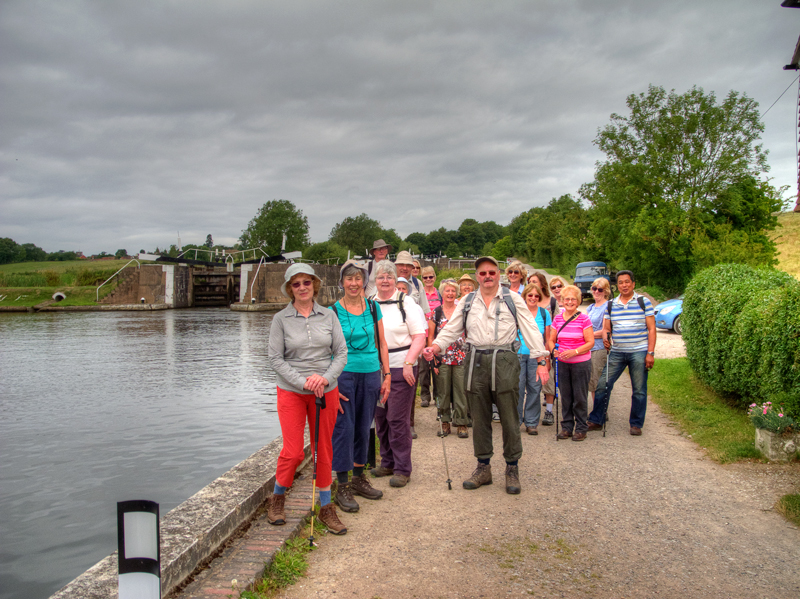 Walkers at Knowle locks