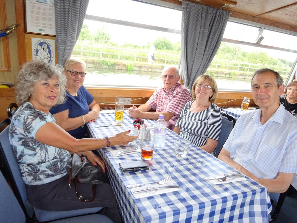Dining out on a River Lea Cruise