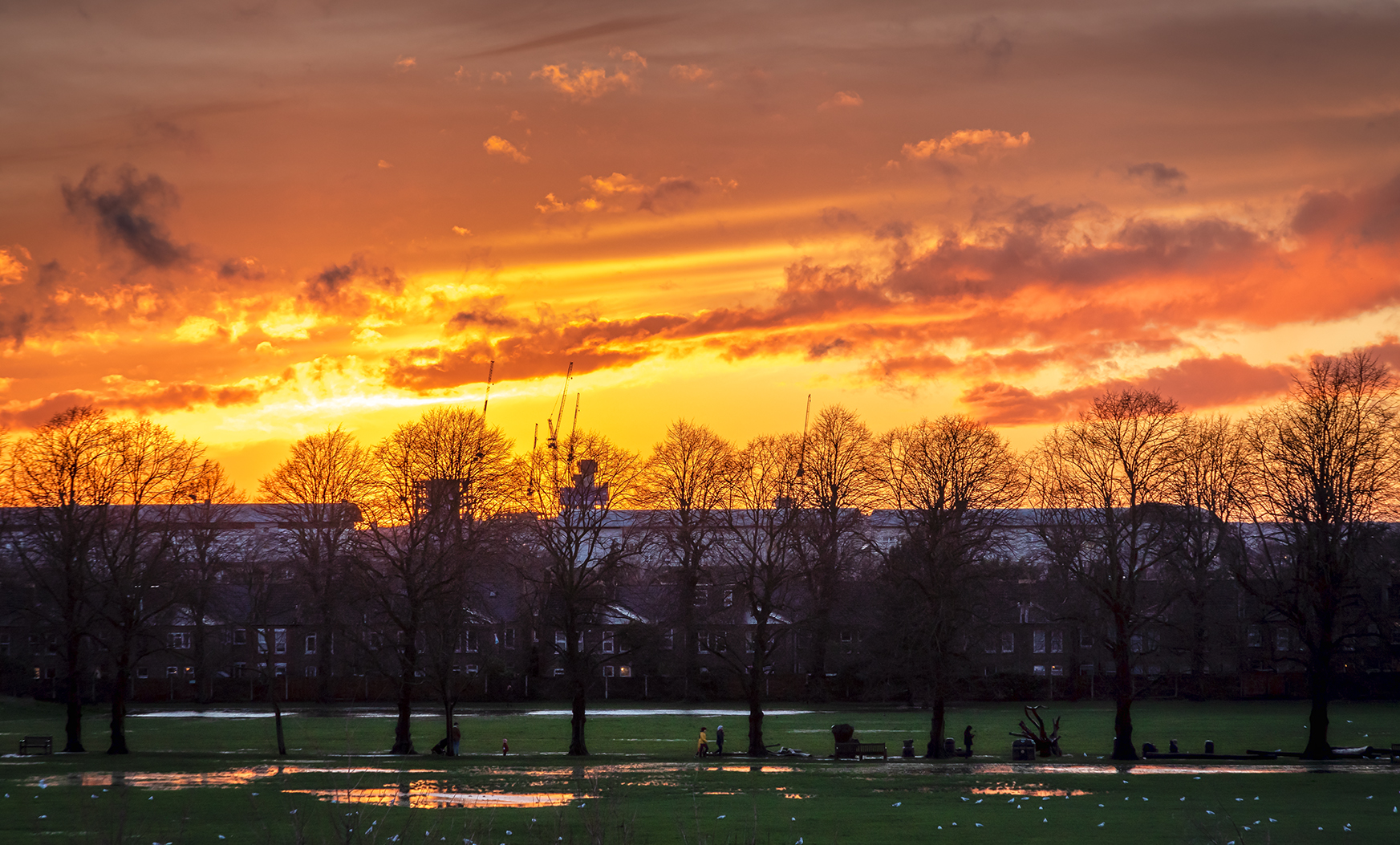 Sunset in Waltham Forest