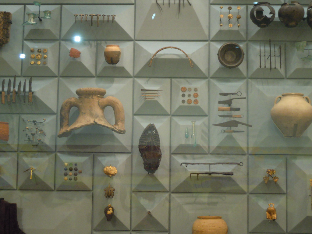 Some of the 14,000 artefacts recovered..