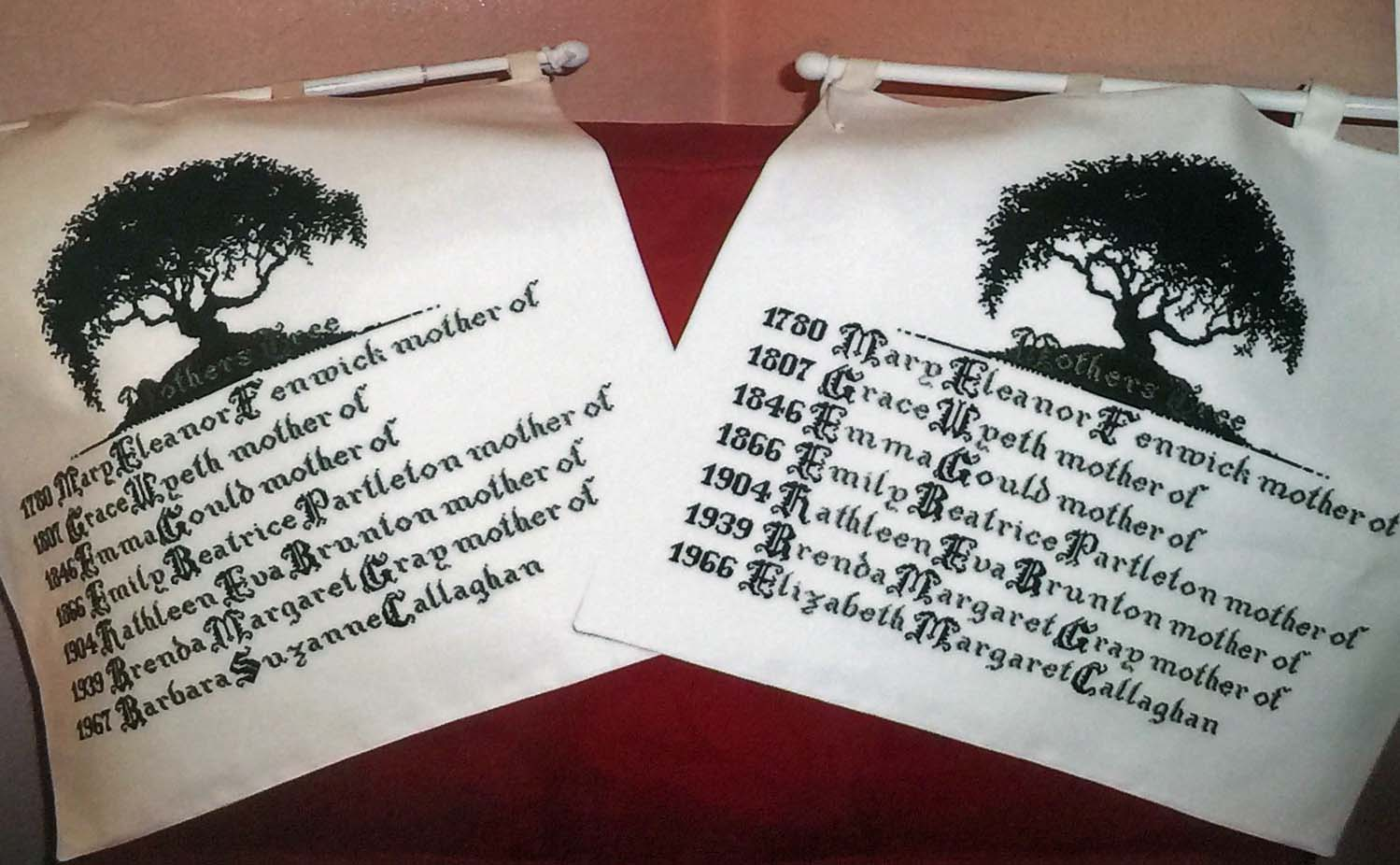 Amazing family tree in embroidery!