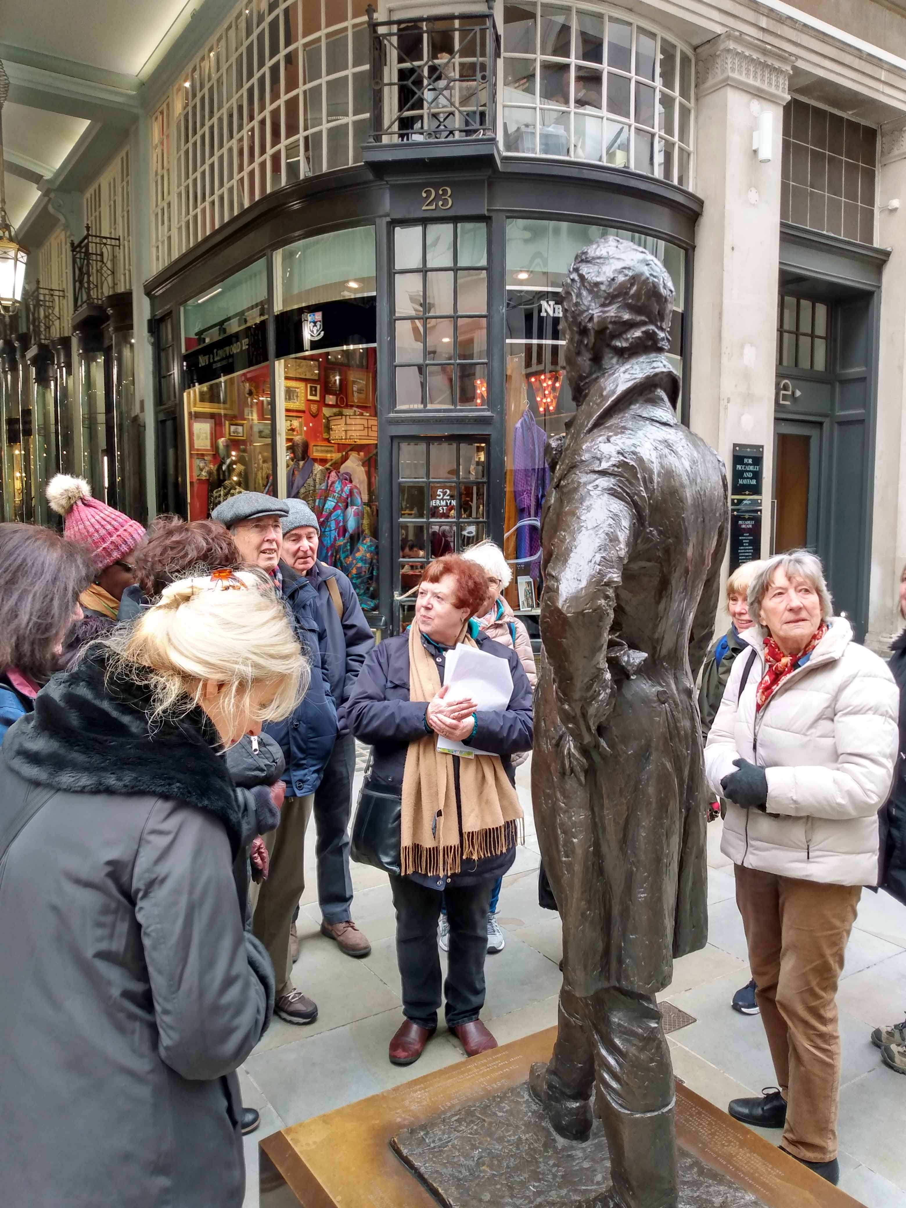 At the Beau Brummell statue