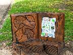 Tree stump sculpture