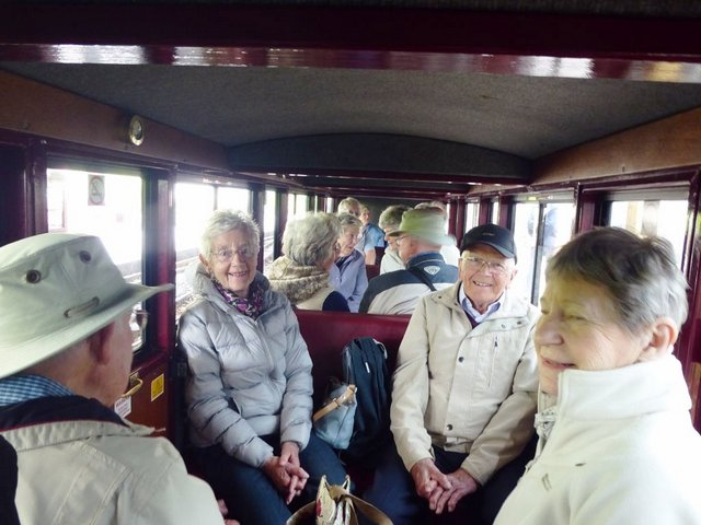 Enjoying the train - Bure Valley Railway