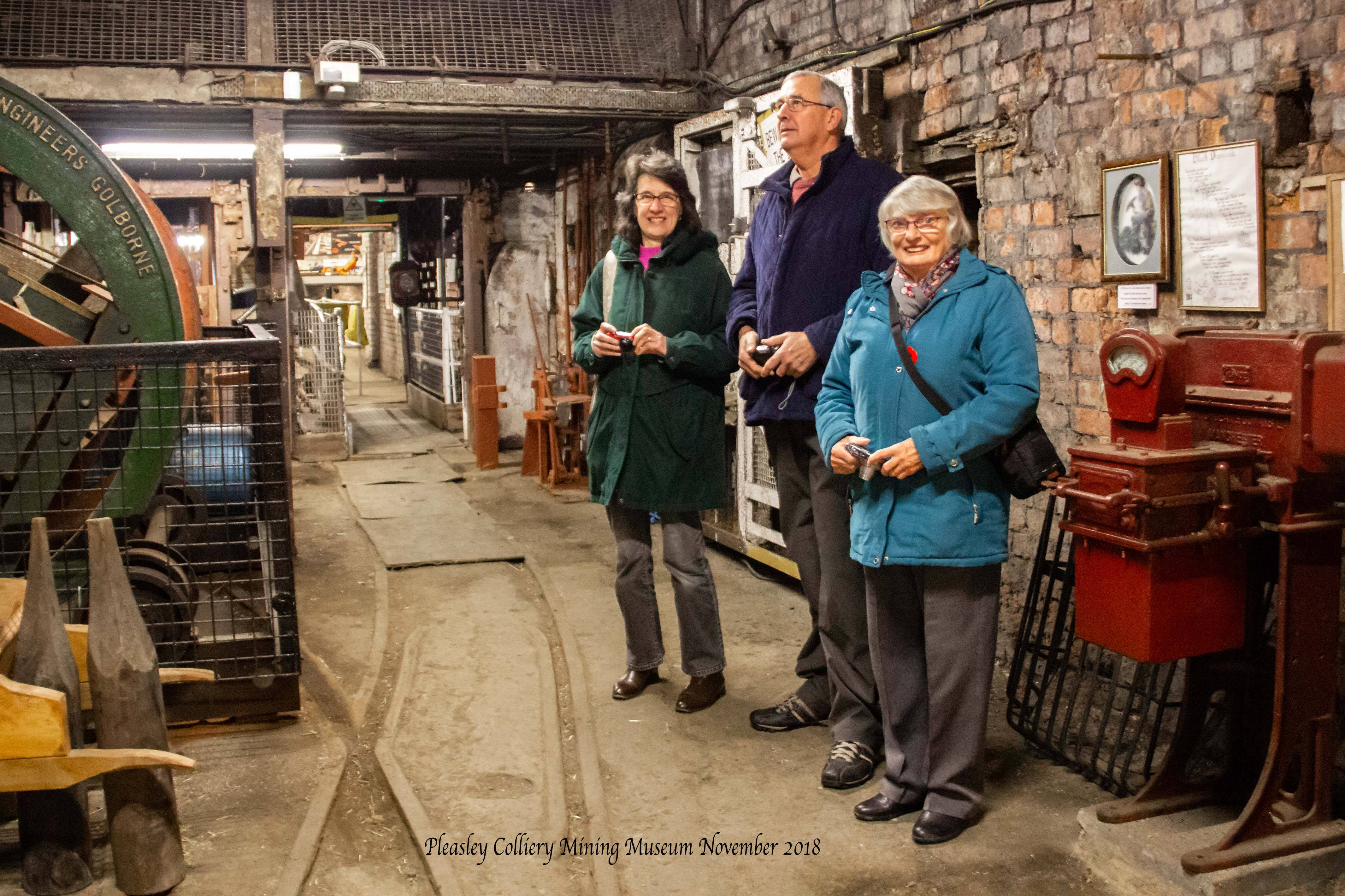 Members at Pleasley Colliery Mining Muse