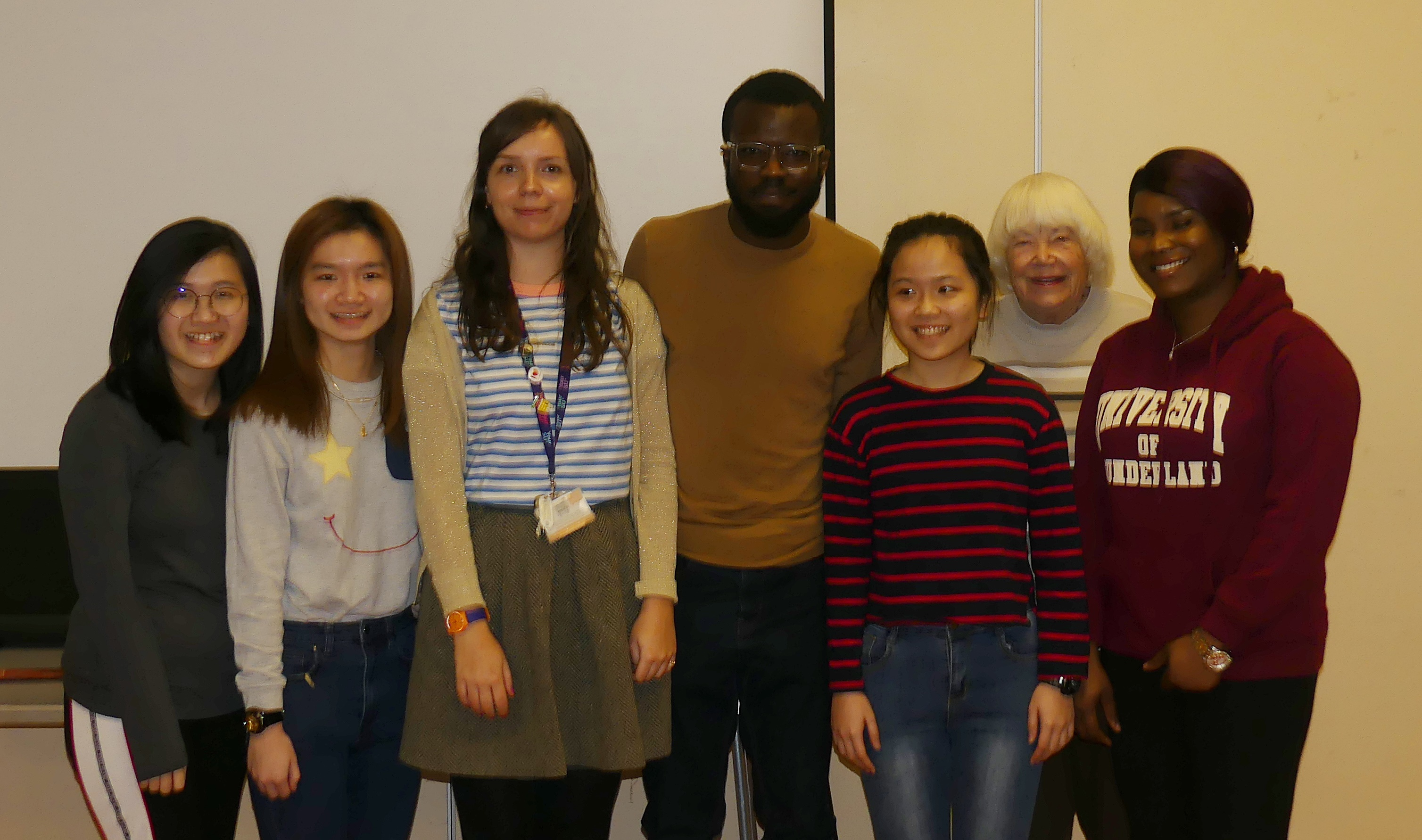 Sunderland Students with Rebecca/Doreen