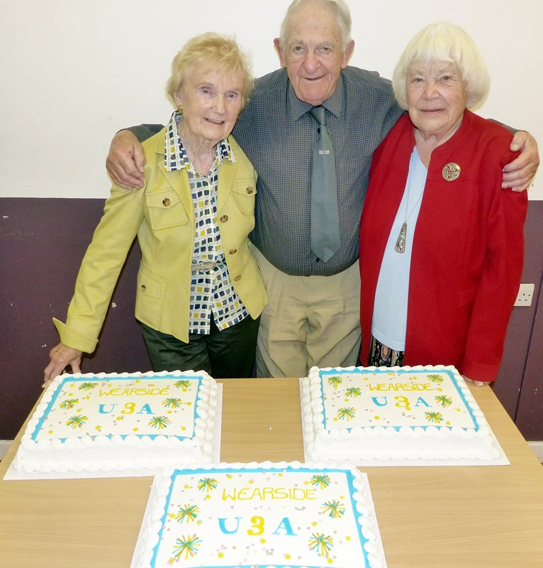 Wearside U3A Cake and Founder Members