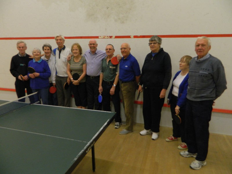 The Table tennis team!