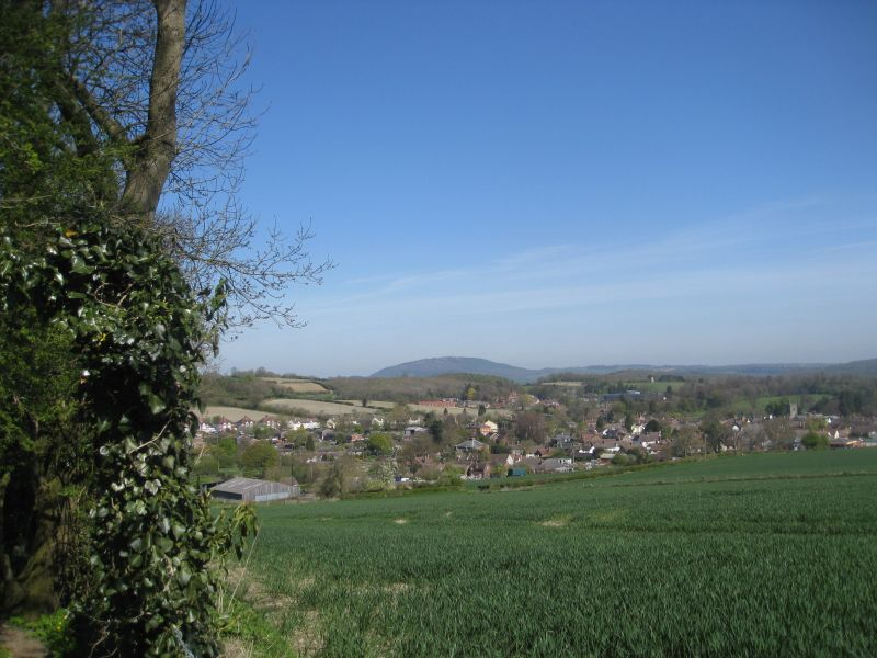 Looking back toward Much Wenlock