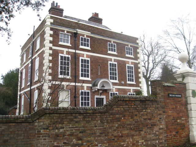 Old Vicarage - with painted on windows.