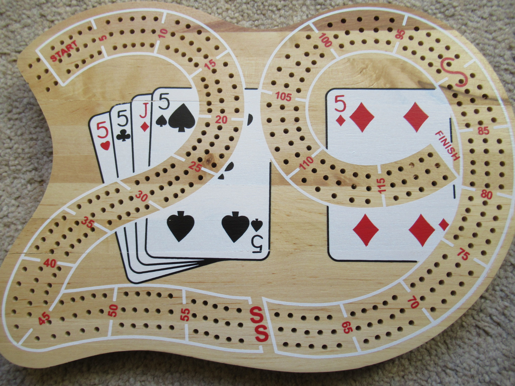Our inspirational Cribbage board