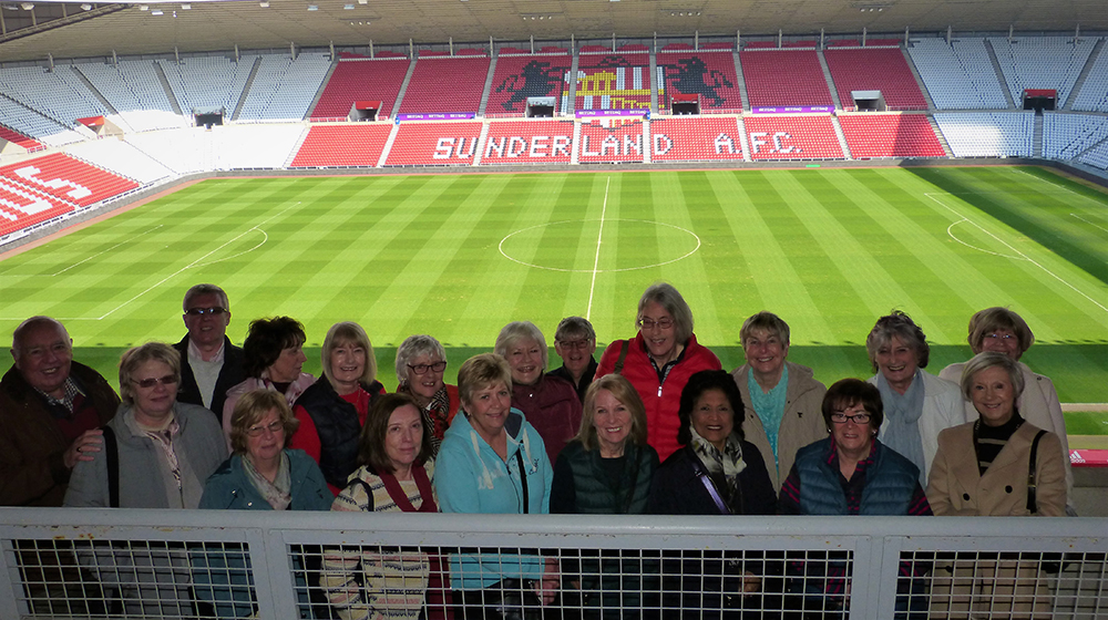 Visit to Stadium of Light