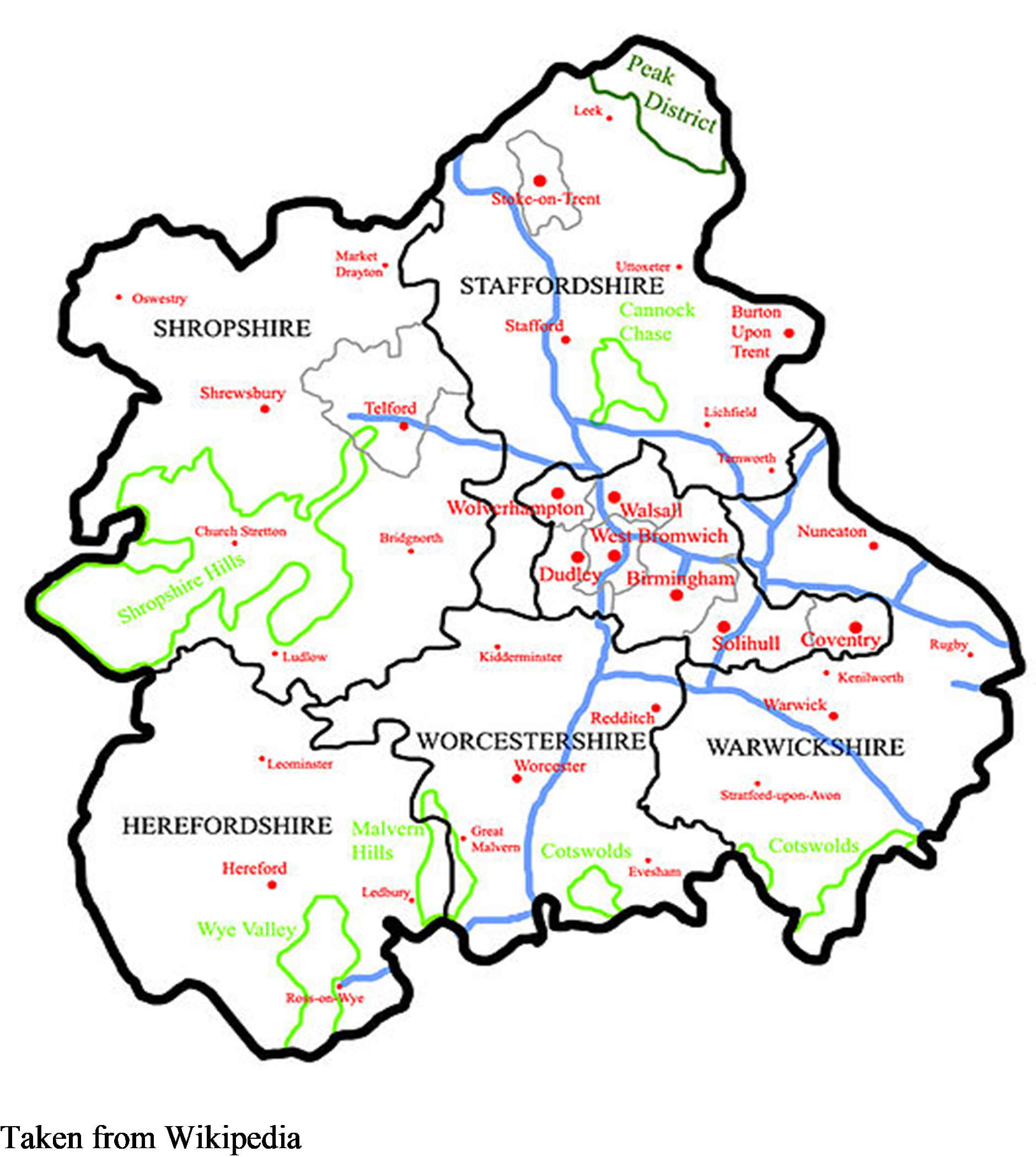 WEST MIDLANDS COUNTIES