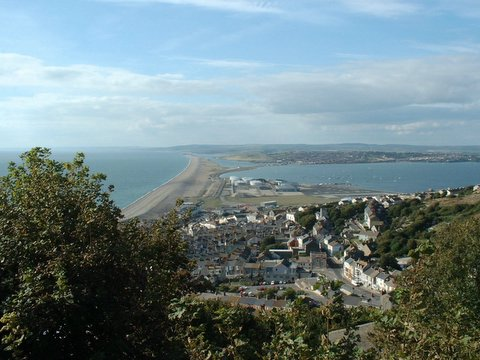 View from Portland over Chesil Beach