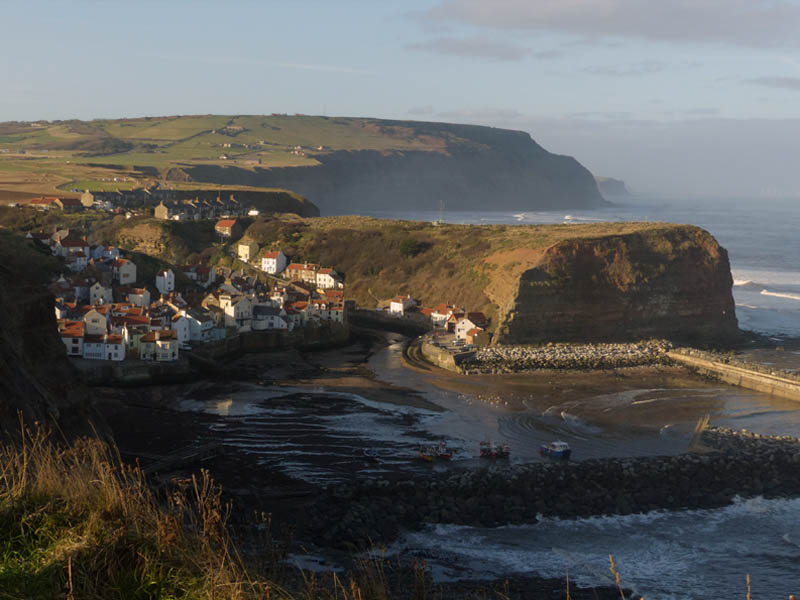 Staithes in the sunshine