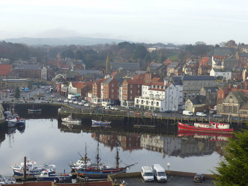 Reflections in Whitby harbour