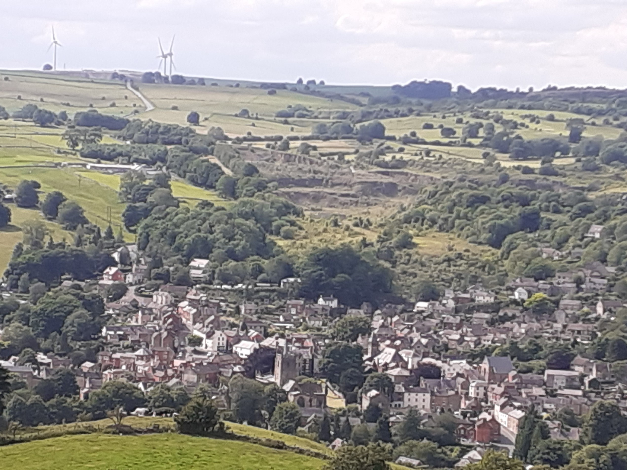 Wirksworth from Hardhurst Farm