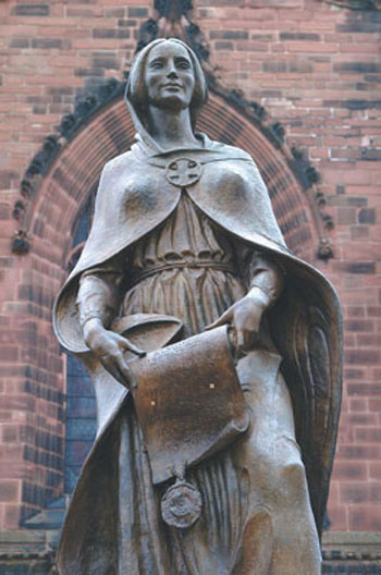 Lady Wulfrun, founder of the city 985 AD