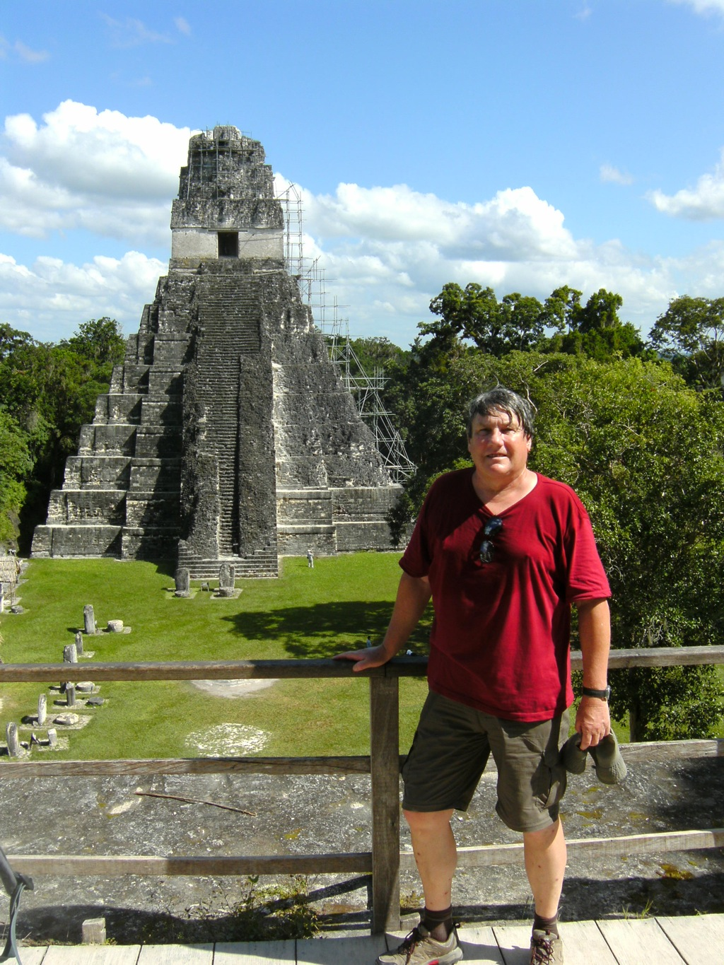 The central plaza of Tikal
