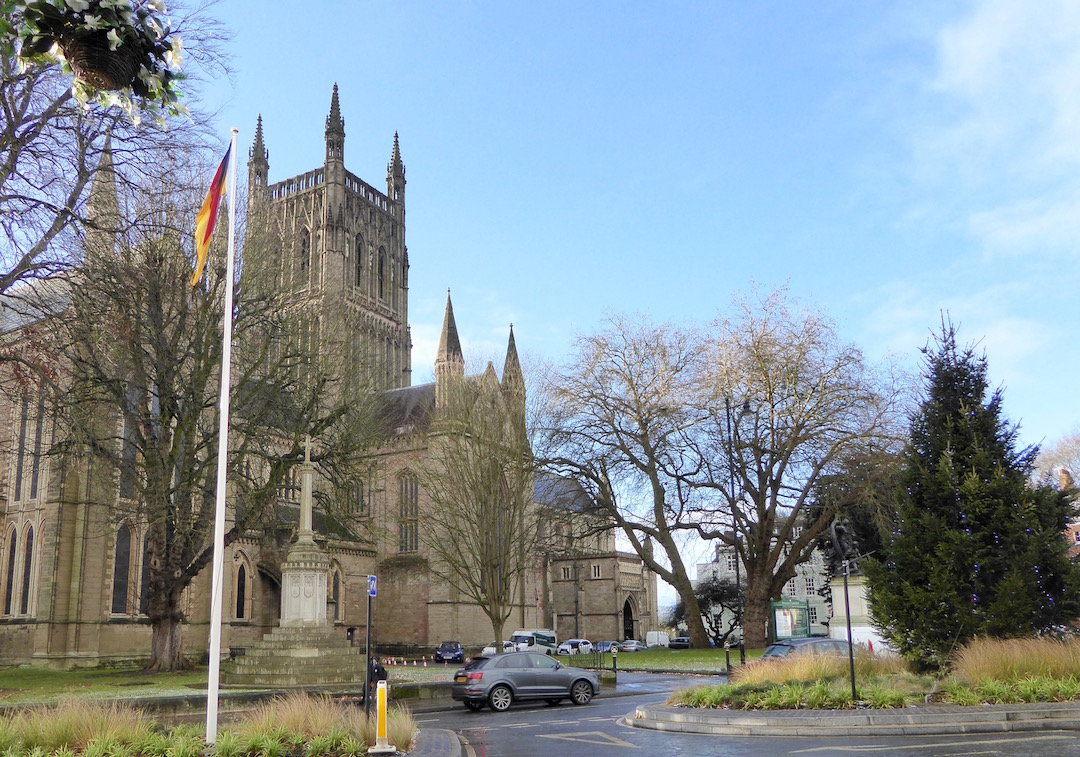 Worcester Cathedral in December