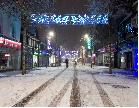 Worksop - Main Street in the snow