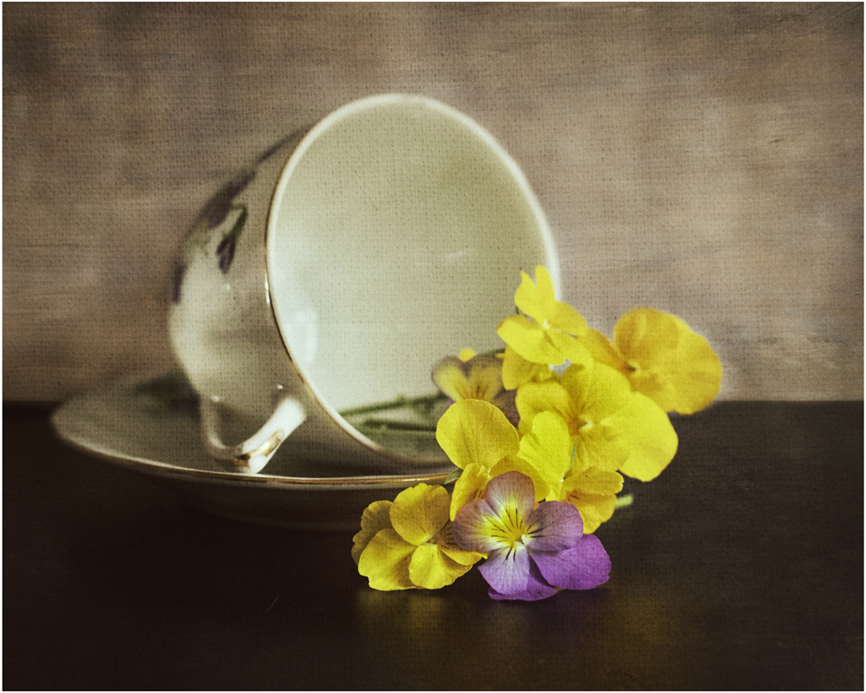 Add a cup of flowers by Jean Meriman